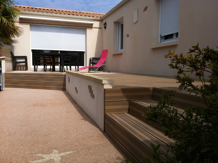 Terrasse composite - Menuiserie Ouvrard Guilloteau