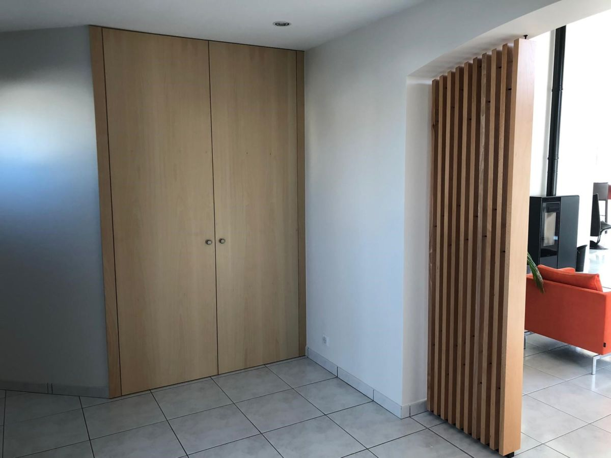 Entrée claustra placard - Menuiserie Ouvrard Guilloteau